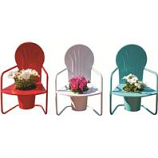 Panacea Products - Retro Metal Chair Planters - 19 Inch