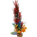 Blue Ribbon Pet Products - Color Burst Florals Large Brush Plant - Red - Large