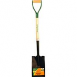 The Ames Company - Border Spade With D-Grip Ash Handle - Black/Green - 40.325 In