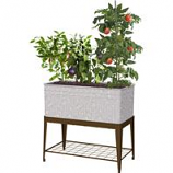 Panacea Products - Galvanized Planter With Stand - Galvanized - 40X22X38