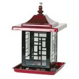 Apollo Investment Holding - Mosaic Bird Feeder - Red - 5.5 Lb Capacity