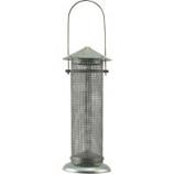 Audubon/Woodlink - Galvanized Silo Nyjer Thistle Seed Feeder - Nickel - .5 Lb