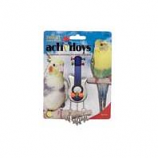 Jw - Small Animal/Bird - Activitoys Guitar Bird Toy - Blue/Silver - 4X5.5X2.5 In
