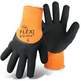 Boss Manufacturing - Flexi Grip Plus High-Vis  Latex Palm - Orange - Medium