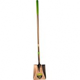 The Ames Company - Long Fiberglass Handled Square-Point Shovel - Green - 61.25 In