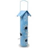 Woodstream Wildbird - Snowflake Metal Tube Bird Feeder - Blue