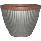 Southern Patio - Pleated Round-Rustic Planter - 20 In