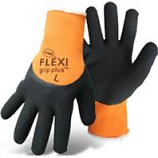 Boss Manufacturing - Flexi Grip Plus High-Vis Latex Palm - Orange - X Large