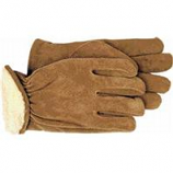 Boss Manufacturing - Men'S Pile-Insulated Split Leather Driver Glove - Brown - Medium