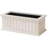 The Master Gardner Co - Window Box  Nantucket - White - 24 Inch