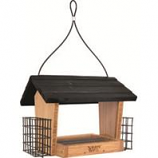 Natures Way - Hopper Feeder Bambo With Suet Cages - 3 Qt
