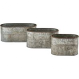 Behrens Manufacturing - Embossed Aged Galv. Nesting Oval Tubs