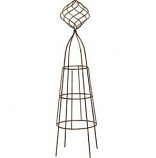 Deer Park Ironworks - Firecracker With Ball Topiary - Natural Patina