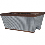 Southern Patio - Westlake Deck Rail Planter - Galvanized - 12  Inch