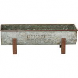 Behrens Manufacturing - Embossed Aged Galvanized Planter with legs