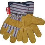 Kinco International - Grain Pigskin Palm Glove - Tan/Blue/Red - Child