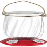Classic Brands - Tulip Plastic Hummingbird Feeder - Red - 22 oz