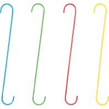 Panacea Products - Hd Vibrant Assorted Color S Hooks - Assorted - 18 Inch