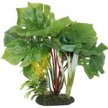 Blue Ribbon Pet Products - Tropical Gardens Split Green Leaf Philodendron - Green - Medium