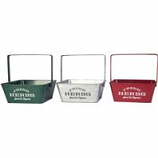Panacea Products - Square Herb Planters With Handle - Assorted - 6 Pcs Of 10X10