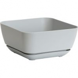 Novelty Mfg - Garden Planter with Attached Tray - Grey - 12 Inch