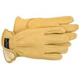 Boss Manufacturing - Therm Premium Insulated Deerskin Driver Glove - Tan - Small