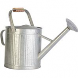 Panacea Products - Vintage Galvanized Watering Can With Wood Handle - Galvanized - 2 Gallon