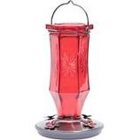 Woodstream Hummingbird - Starburst Vintage Hummingbird Feeder - Red -
