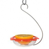 Droll Yankees - Bos Marmalade Hanging Oriole Feeder - Clear/Orange - 5 Inch