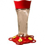 Classic Brands - Humming - Twist Glass Hummingbird Feeder - Red - 11 Oz