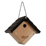 Natures Way - Traditional Wren Hanging Bird House - Cedar - 8X8.875X8.125In