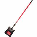 Bully Tool - Long Handle Square Point Shovel Fiberglass Handle -