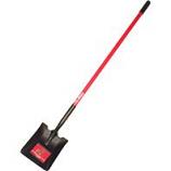 Bully Tool - Long Handle Square Point Shovel Fiberglass Handle -