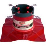 Hookery - Santas Solution Original Tree Stand Pop Display - Red - 7-9 Feet