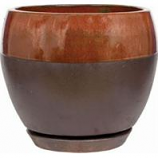 Southern Patio - Clayworks Kendell Egg Planter - Cppr - 12 In