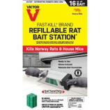 Woodstream Victor Rodnt - Rat Bait Station Refillable - 8 Count