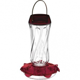 Droll Yankees - Classic Glass Hummingbird Feeder - Red - 16Oz