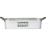 Panacea Products - Small Farmer'S Market Oval Planter - Galvanized - 12 Inch