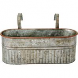 Behrens Manufacturing - Embossed Aged Galvanized Hanging Planter