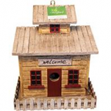 Songbird Essentials - Songbird Beach Cottage Bird House - Brown/Tan - 9X5.4X10.2