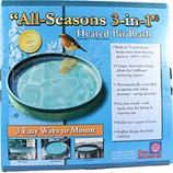 Farm Innovators-Wldbrd - All Seasons 3-In-1 Heated Birdbath - Green - 75 Watt