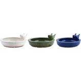 Esschert Design Usa - Ceramic Bird Bath With Birds - Assorted