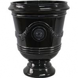 Southern Patio - Porter Urn - Black - 15.5 Inch