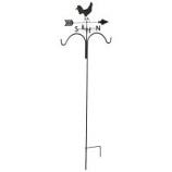 Panacea Products - Rooster Weathervane Shepherd Hook - Rust - 78 Inch