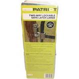 Tru-Test - Lockable Gate Latch 2Way - Grey - 1 5/8 - 2