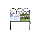 Garden Zone - Charleston Classics Jasmine Border Fence - Black - 18X16 Inch