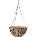 Panacea Products - Finial Hanging Basket - Black - 14 Inch
