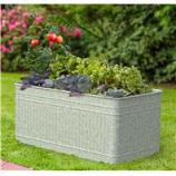 Panacea Products - Raised Galvanized Trough Planter - Galvanized - 40X22X18
