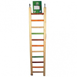 A&E Cage Company - Happy Beaks Wooden Hanging Ladder - Multicolored - 25 Inch