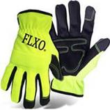 Boss Manufacturing - Hi-Vis Pu Palm Glove With Foam Padding - Medium